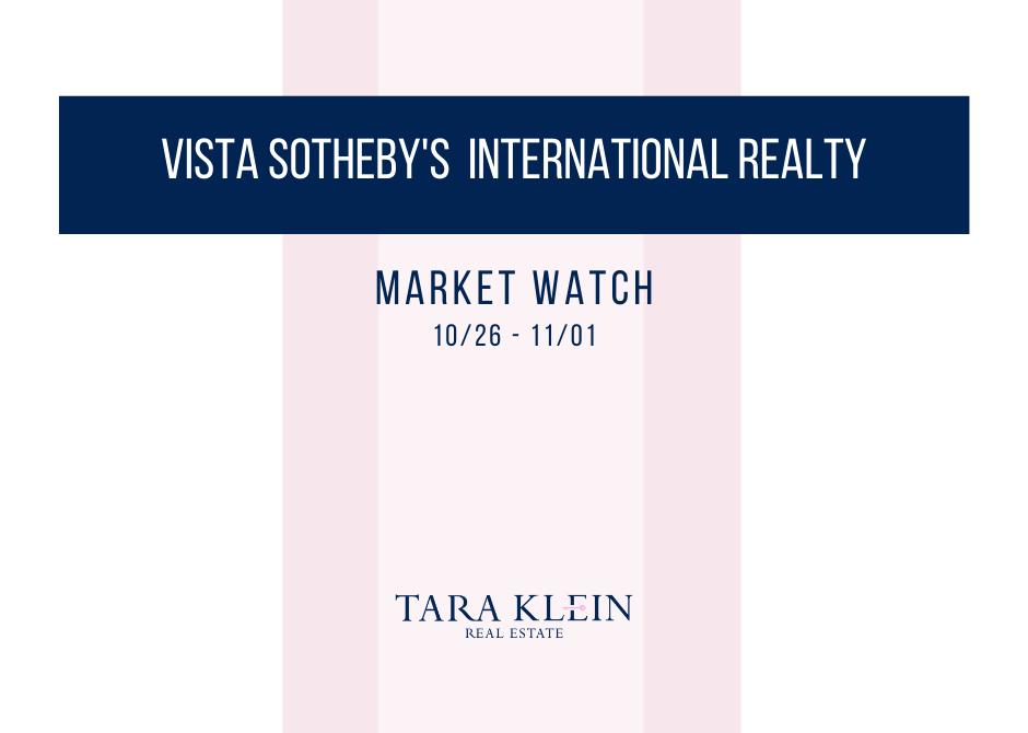 October Week 4 Market Watch Update